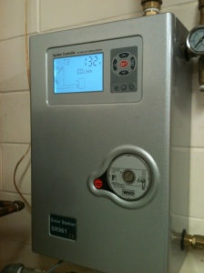 controller for solar hot water heater and solar collector