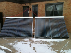 Solar Collector for solar hot water heater