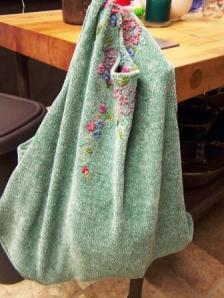 And, like magic you have just made a sweater bag!